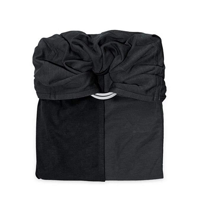 Petite Echarpe sans Noeud - Anthracite, Noir (Reversible) - JPMBB - Porte Bébé Sling