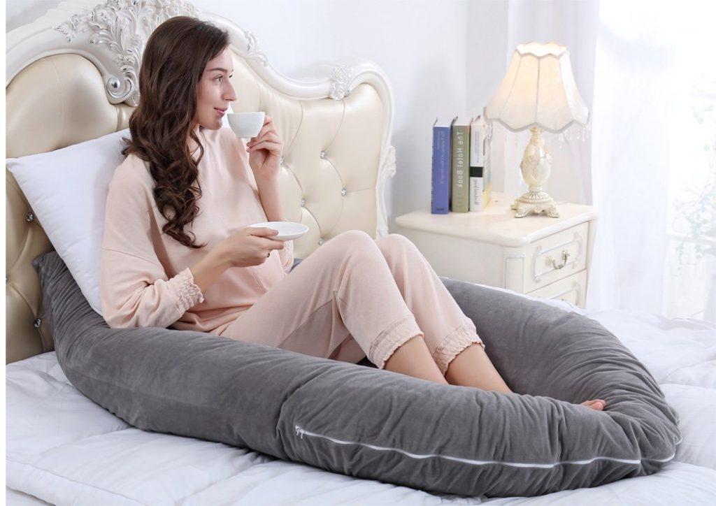 Taie Coussin 100/% Coton Amovible et Lavable Crown gray Coussin d Allaitement Maternit/é Bebe avec un Appui-t/ête D/étachable pour B/éb/é