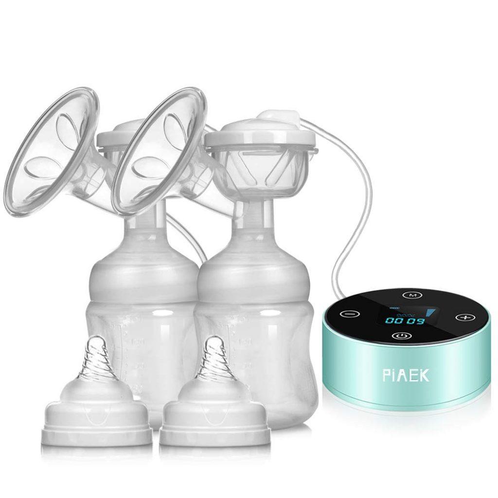 Tire-lait Electrique de Massage Batterie Intégrée avec Grande Capacité Pompe Allaitement 3 Phases 9 Fréquences Aide de Voyage
