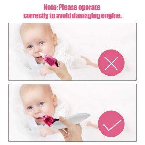 SUMGOTT Mouche Bebe Électrique Aspirateur Nasal - Mouche Nez avec USB Chrage / 3 Niveaux de Puissance d'Aspiration / 4 Tips pour Nouveaux-Nés et les Bambins