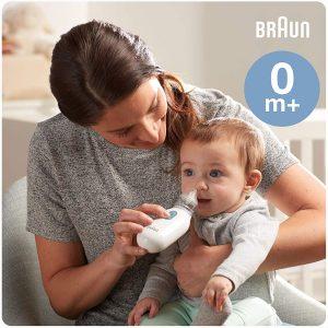 Aspirateur nasal Braun 1, BNA100EU. Dégage les nez bouchés rapidement et en douceur. Mouche bébé électrique tous âges, à partir de 0+