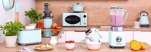 700W 18,5L Four à Micro-Ondes Vintage Cuisine by CooKing (Mint)