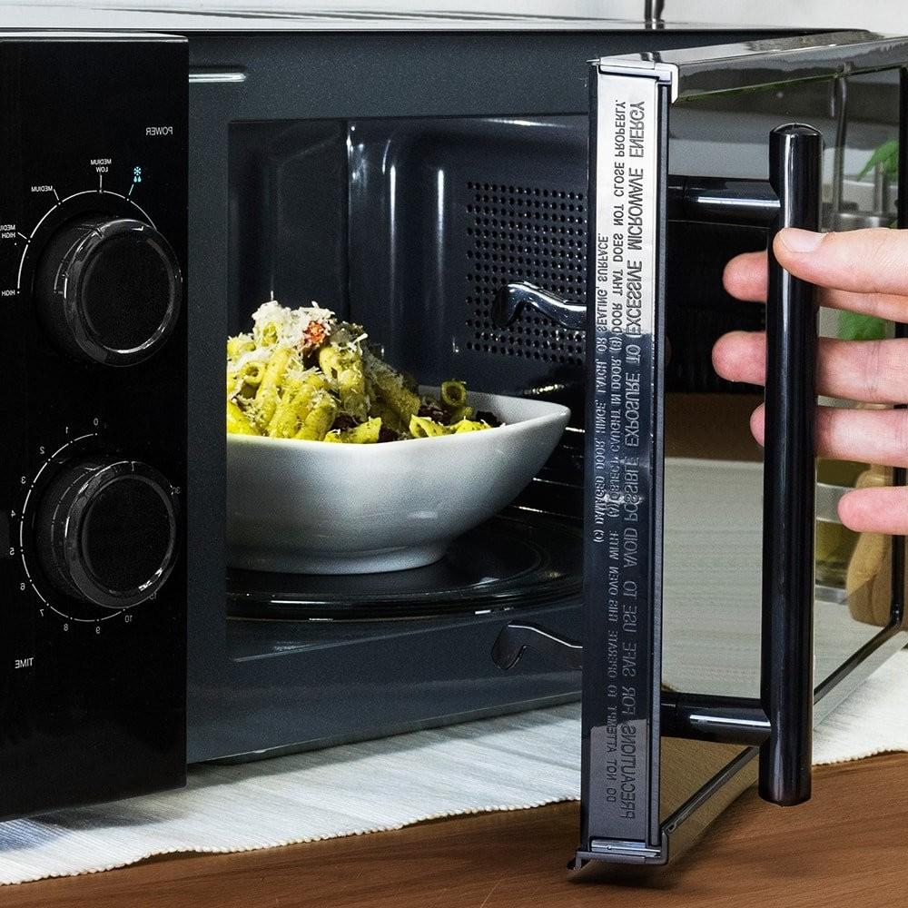 Cecotec Micro-onde Simple All Black, Effet Miroir, 20L, 700W, Minuteur 30 min, 6 Niveaux de Puissance, Décongélation