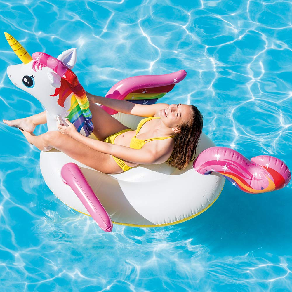 INTEX Licorne gonflable - 201x140x97cm